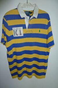 NWT POLO Ralph Lauren Men/'s Rugby Short Sleeve Polo Shirt L