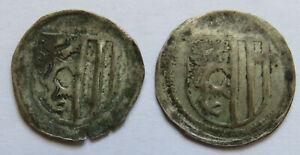 Sachsen-Kurfuerst-Ernst-Albrecht-Wilhelm-III-1465-1482-2-Einseitige-Pfennige