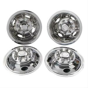 Steel-Chevy-GMC-16-034-8-Lug-Dual-Wheel-Simulators-Dually-hubcaps-Liners-Covers