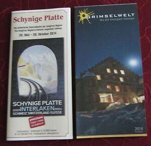 2 Stück Info Grimselwelt und Schynige Platte Berner Oberland Schweiz - Deutschland - 2 Stück Info Grimselwelt und Schynige Platte Berner Oberland Schweiz - Deutschland