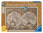 RAVENSBURGER PUZZLE MAPPAMONDO ANTICO EFFETTO LEGNO WORLD MAP ART 19004