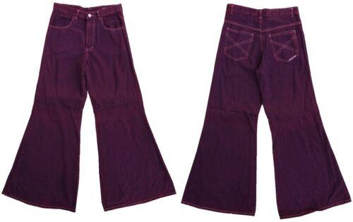 BLACK Ladies Girls Mens Vintage Wide Leg Baggy Skater Jeans Denim Trousers MEGA