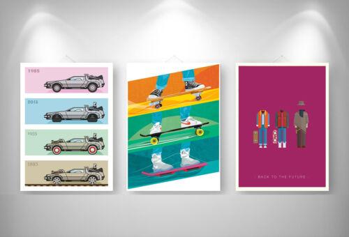 RETOUR VERS LE FUTUR EVOLUTION BACK TO THE FUTURE X 3 Posters A3 29,7cm X 42cm