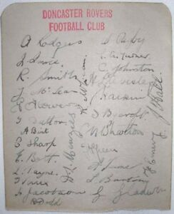 1935-DONCASTER-ROVERS-FOOTBALL-CLUB-28-PLAYERS-amp-STAFF-ALL-ORIGINAL-AUTOGRAPHS