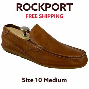 Rockport-Mens-Cape-Noble-Wheat-Leather-Slip-On-Loafer-Driving-Shoes-Size-10-M