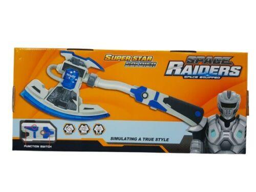 Space Raiders Super Soldat Hache simulant vrai style son puissant et lumières