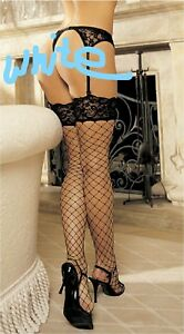 White-Wide-Lace-Top-Fence-Net-Thigh-High-Stocking-Shirley-90062