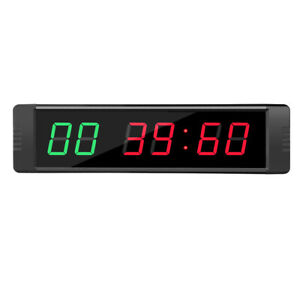 6-Digits-Programmable-LED-Interval-Timer-Clock-Countdown-up-Wall-mounted-for-Gym