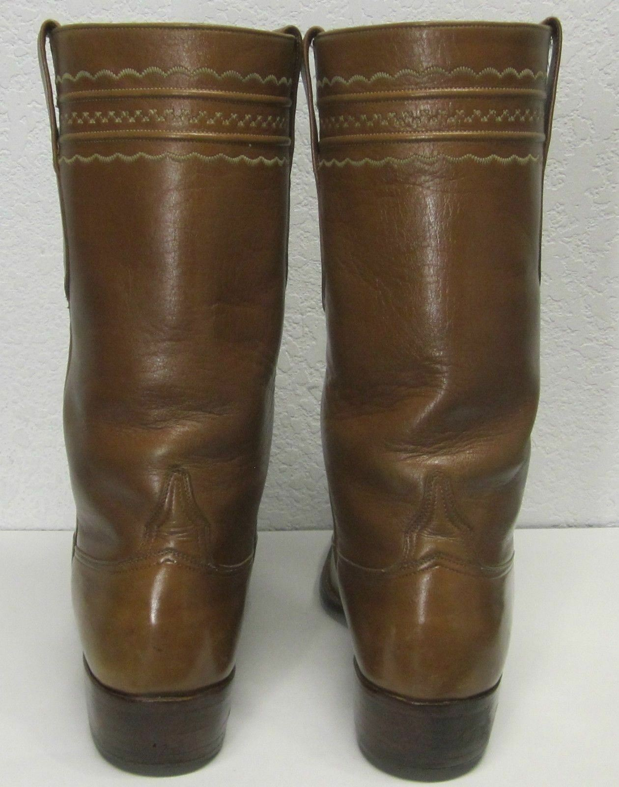 GENUINE LUCCHESE QUALITY 77846 - 2L510 WOMEN'S (9.5 B) CAMEL BROWN COWBOY BOOTS