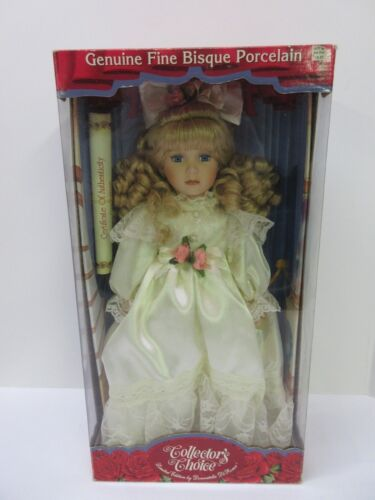 """Collectors Choice Fine Bisque Porcelain Doll Limited Edition 16"""" New / Coa by Ebay Seller"""
