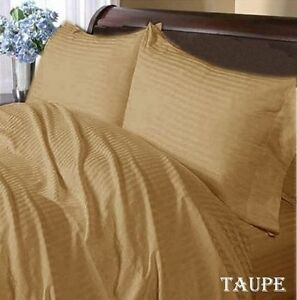 Select-Bedding-Item-All-US-Size-Taupe-Striped-1000-TC-Best-Egyptian-Cotton