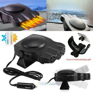 3 Outlets 200W Car Auto Heating Heater Cooling Fan Windshield Defroster Demister