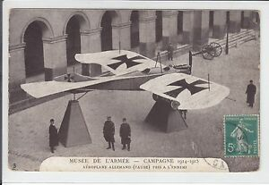 AK-Musee-de-l-Armee-Aeroplane-Allemand-1-WW-1915