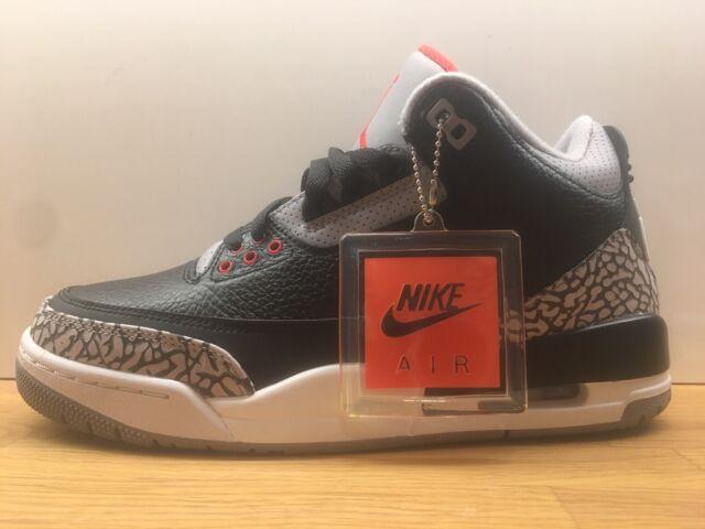 sports shoes 5a872 b13e0 Nike Air Jordan 3 OG Black Cement DS BNIB Size 6 UK 7 US