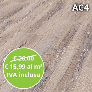 Pavimento in Laminato Rovere Sbiancato Confezione Da 2.22mq | 8 mm ...