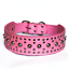 Studded-Spiked-Metal-Dog-Collage-Faux-Leather-Collar-Pitbull-Mastiff-BLACK-RED thumbnail 4