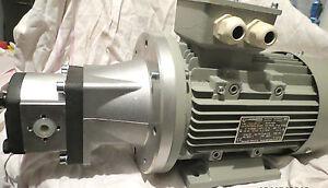 230-400-VOLTIOS-1-5-kW-Motor-Agregado-HIDRAULICO-bomba-SIN-ACEITE