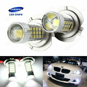 2-Ampoules-H7-54-SMD-LED-Anti-Brouillard-de-voiture-Phare-Lampe-Blanc