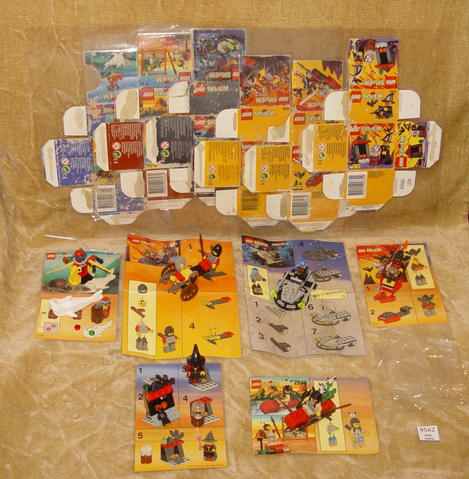 LEGO Sets  Kayak,2872 6004 Cart,2848 Knight,2871 Diver,6800 Cyber,2846 Kayak,2872  Witch BOX 2afea0