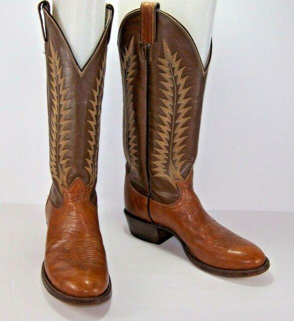 5610d0d27c4 Tony Lama Mens Cowboy BOOTS 6531 Brown Leather Western Top-stitch Size 6  1/2 B