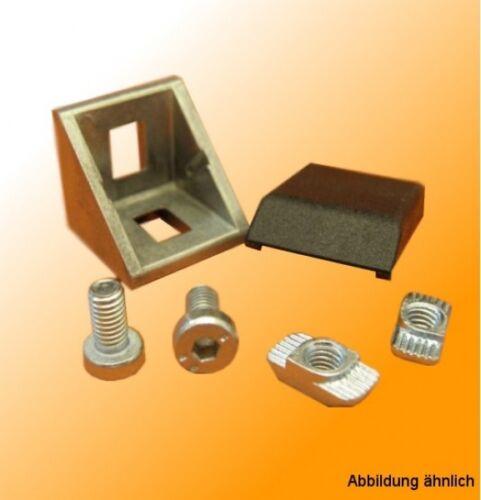Winkel 30 mm für T-Nut Aluprofile B-Typ Nut 8 kompatibel mit Bosch 8mm