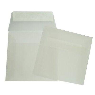 50 Briefumschläge 220x220 Mm Transparent 22x22 Kuvert Quadratisch 22x22 Cm