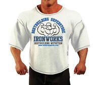 White Team Ironworks Bodybuilding Clothing Workout Top