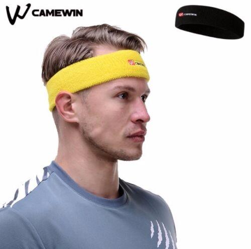 Cotton Camewin Sport Elastic Anti-Sweat Headband 1 Piece Yoga Hairband Black