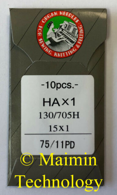 50 ORGAN EMBROIDERY MACHINE NEEDLES 75//11 BP BALL POINT