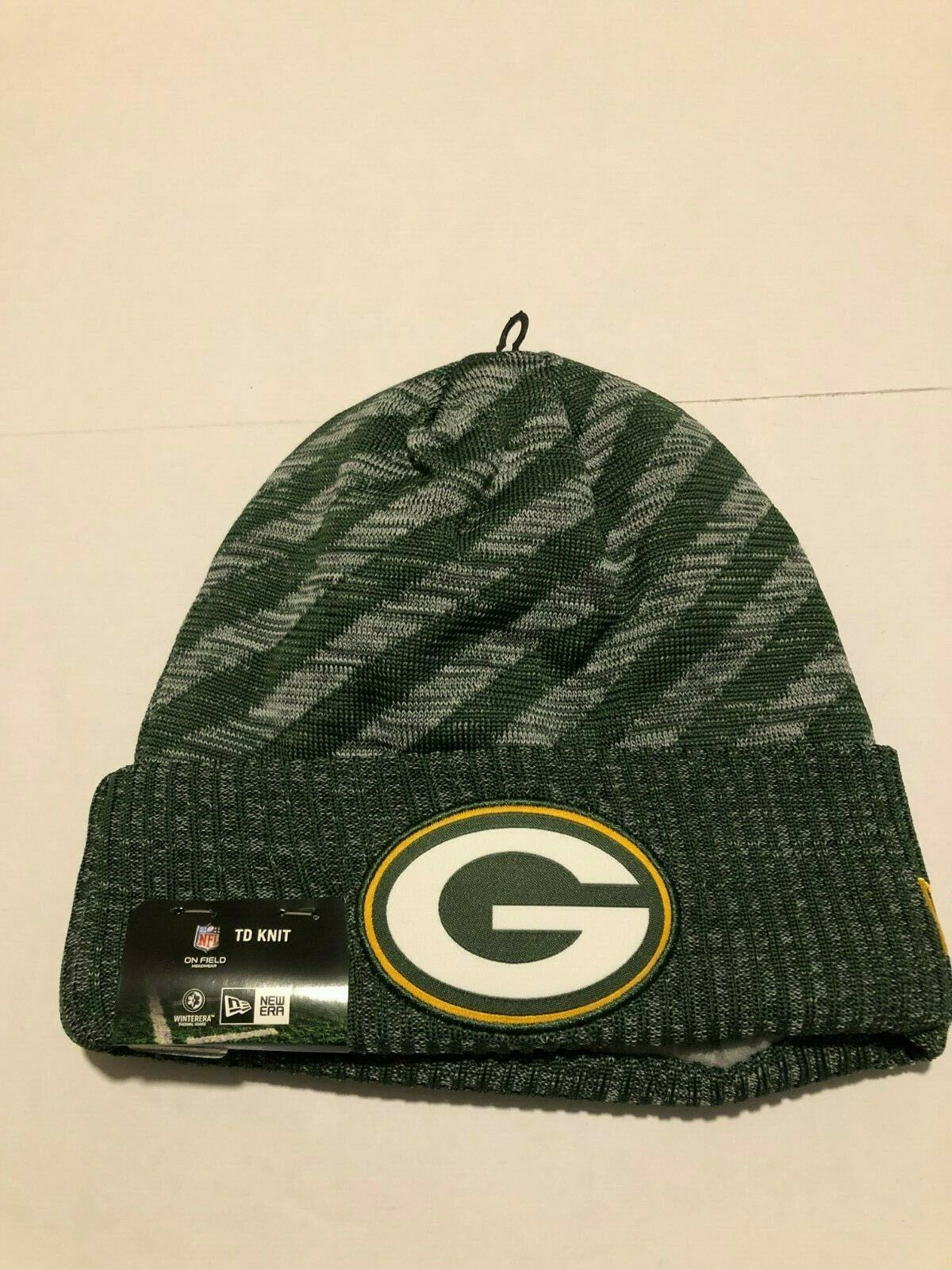 39dda941a30 2018 Green Bay Packers Era TD Knit Hat on Field Sideline Beanie Stocking Cap  for sale online