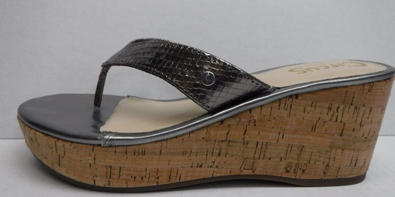 Sam Edelman Circus Taille 8 Pewter Cork Wedge Heels Sandals New femmes chaussures