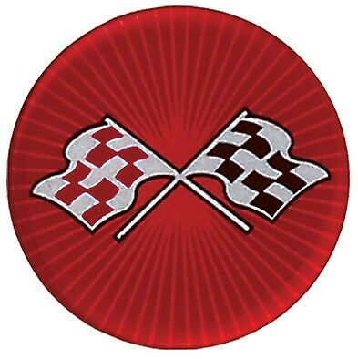 C3 Corvette 1968-1982 56mm Red Cross Flag Wheel Decal Complete Set of 4