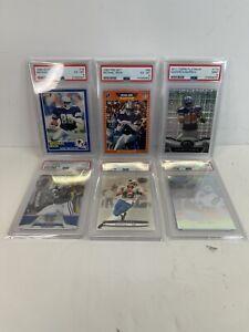 Dallas Cowboys Graded Card Lot Michael Irvin & Tony Romo Rookies- Emmitt- PSA