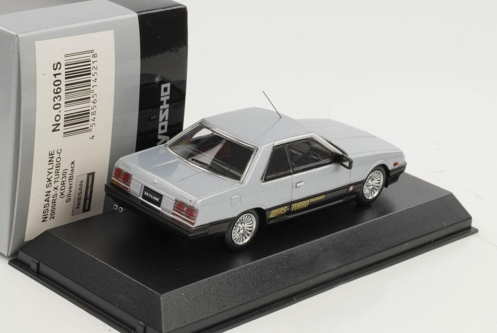 Nissan Skyline 2000rs-x Turbo-C kdr30 argent 1 43 Kyosho QUALITE