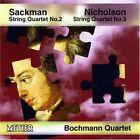 Nicholas Sackman String Quartets Nos. 2 and 3 Bochmann Quartet CD 1998