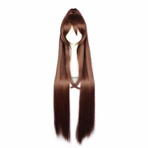 Synthetic-Ponytail-Hair-Long-Straight-Brown-Wigs-High-Temperature-Fiber-Cosplay