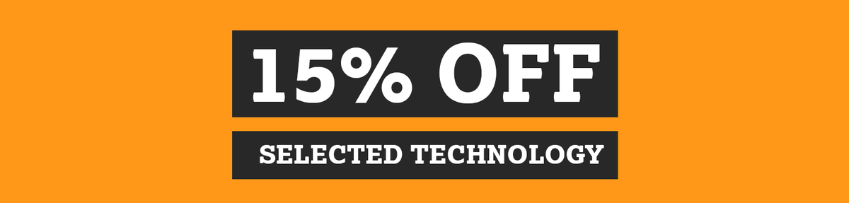 Shop event Halfords: 15% off on selected Technology Save up to 15% on car accessories