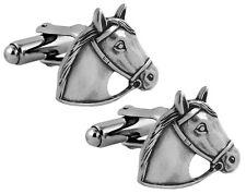 HORSE HEAD CUFFLINKS STERLING SILVER 925 HALLMARKED NEW FROM ARI D NORMAN