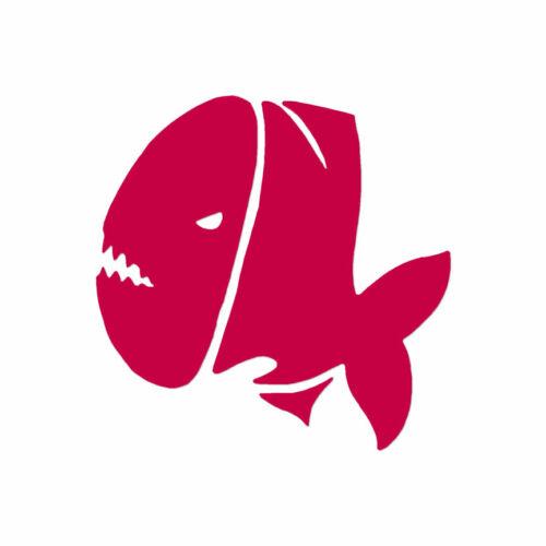 Multiple Color /& Sizes Vinyl Decal Sticker ebn302 Fish Piranha