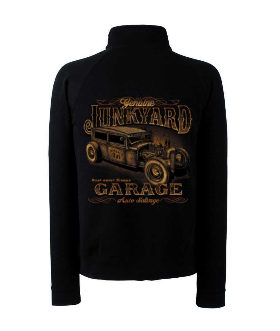Zip Sweater with Hot Rod US Car & `50 Style Emotiv Model Junkyardgarage