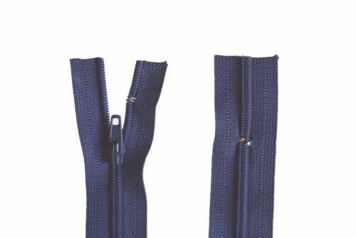 Reißverschluss Kopfkissen Bettwäsche schließbare Länge 60 cm dunkelblau