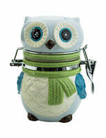 41942 Owl W/scarf Hinged Jar Treat Snack Flour Sugar Tea Candy Canister Kitchen