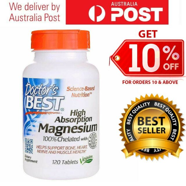 NEW Doctors Best High Absorption Magnesium 100% Chelated 100mg 120 - 480 Tabs