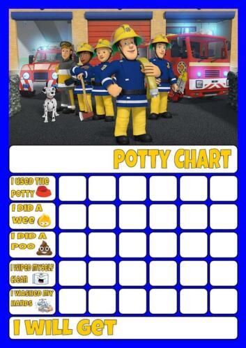 Fireman Sam B pot//Toilette formation récompense graphique libre Stars /& Stylo