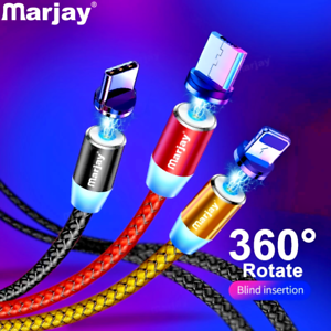Marjay-Magnetic-Micro-USB-Cable-For-iPhone-Samsung-Android-Fast-Charging-Magnet