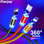 Marjay-Magnetic-Micro-USB-Cable-For-iPhone-Samsung-Android-Fast-Charging-Magnet miniature 1