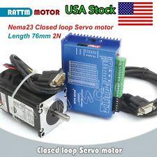 Us2nm Nema23 Closed Loop Hybrid 2nm Servo Motor Driver Stepper Motor 76mm Cnc