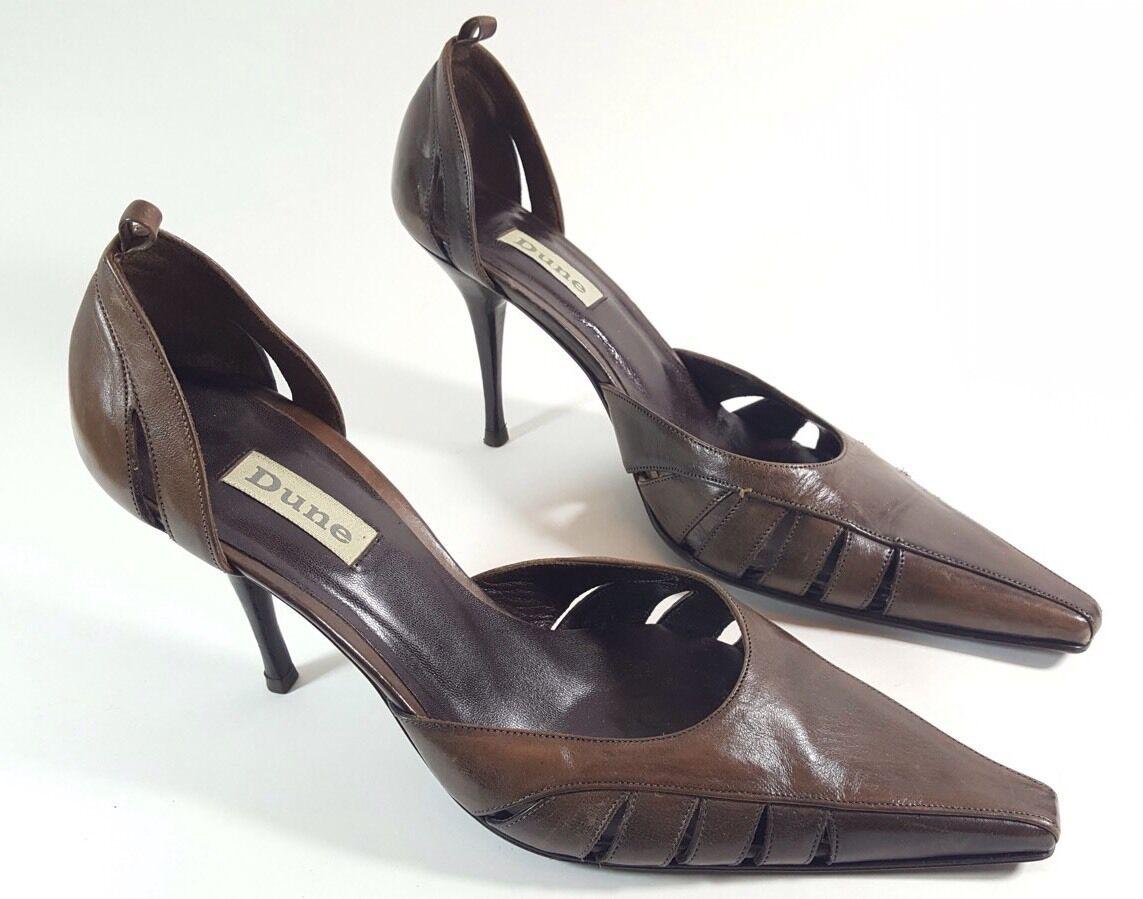 Dune Women's Brown Leather High Heel Shoes uk 5 Eu 38
