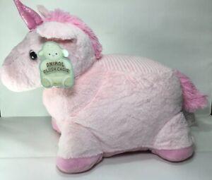 NEW-Unicorn-Plush-Chair-24-034-Horse-Toddler-Pink-Stuffed-Animal-Childrens-KellyToy