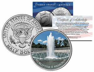 WORLD-WAR-II-MEMORIAL-Washington-D-C-JFK-Kennedy-Half-Dollar-U-S-Coin